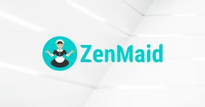 ZenMaid logo on white background