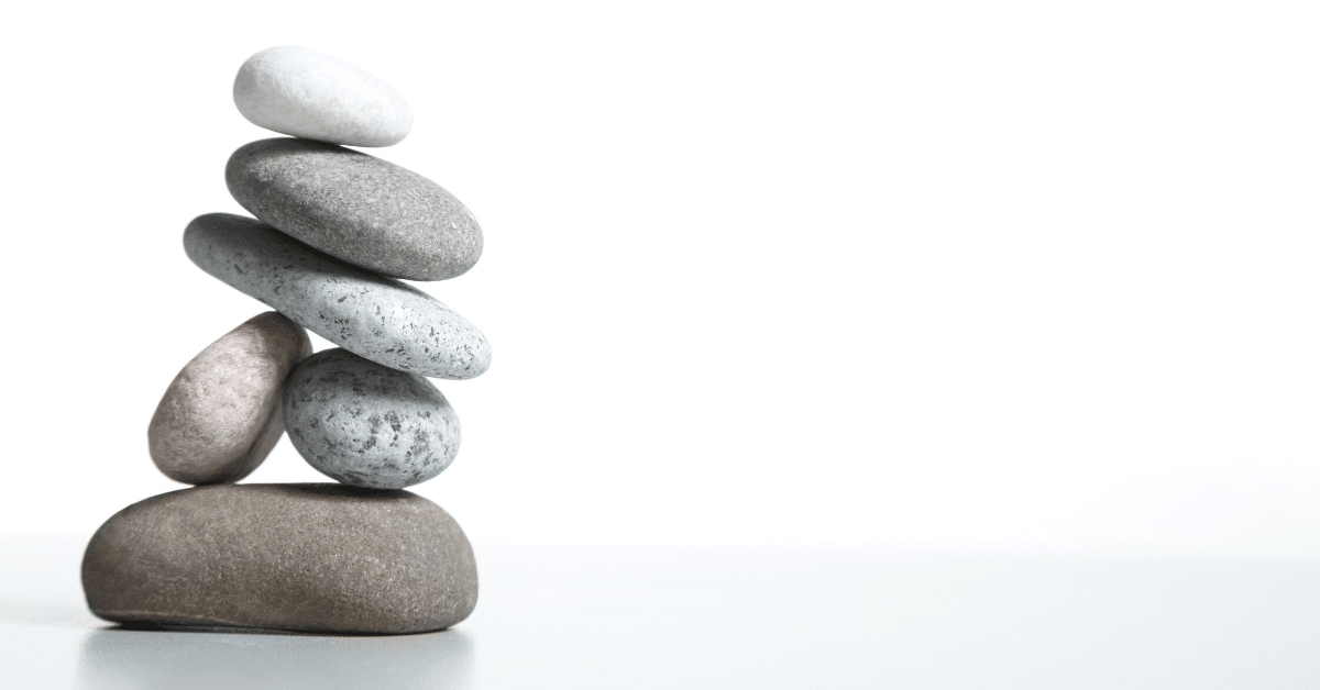 a stack of perfectly-balanced pebbles