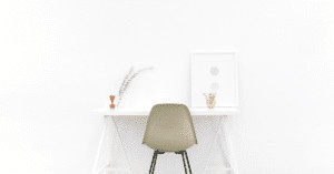 pristine office table and chair