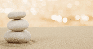Zen rock and sand garden