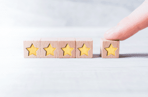 5 star wooden blocks