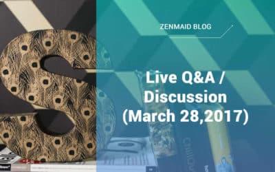 Live Q&A/Discussion (March 28,2017)