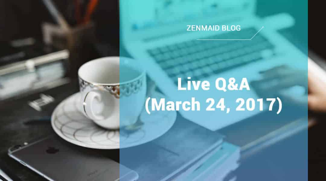 Live Q&A (March 24, 2017)